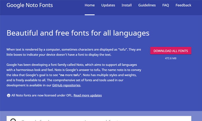 Google ให้ดาวน์โหลดฟอนต์ฟรี รองรับถึง 800 ภาษา