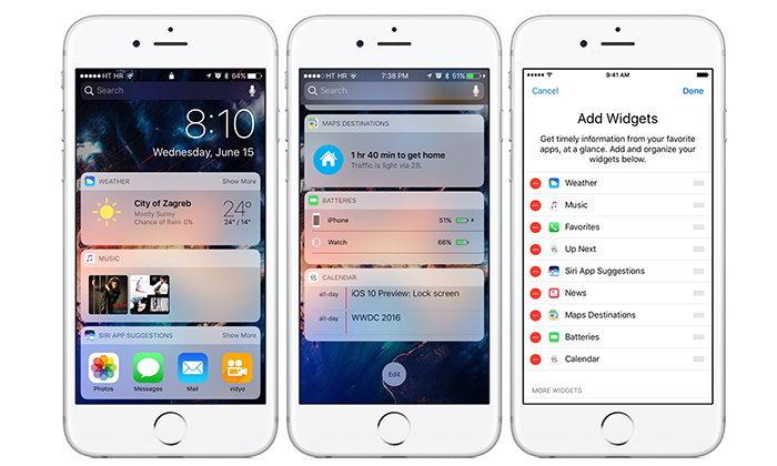 10 Widget ยอดเยี่ยมและน่าใช้บน iOS 10