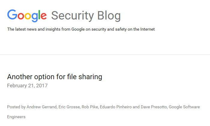 กูเกิลเปิดตัวระบบแชร์ไฟล์ Upspin แชร์ไฟล์แบบเข้ารหัสปลายทางถึงปลายทาง