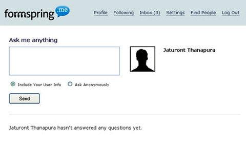 ถามคำถามเพื่อนคุณแบบ Anonymous