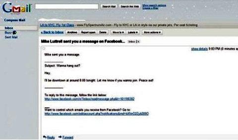 """Facebook ส่งเมล์ผิด""""กล่องผู้รับ"""""""