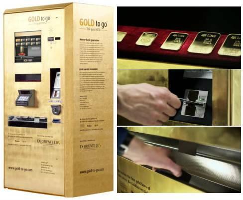 """ว้าว!!! ตู้ ATM สำหรับซื้อ""""ทองคำ""""แท่ง"""
