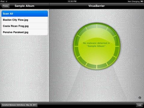 VirusBarrier แอพฯตรวจเช็ค Antivirus, Malware บน iPhone, iPad ตัวแรกในโลก!