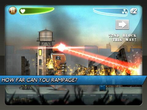Robot Rampage HD หุ่นยักษ์ล้างโลกสำหรับ iPad แจกฟรีแล้ว รีบหน่อยเวลาจำกัด!!