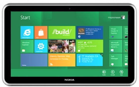 Nokia ฝรั่งเศส เผย แท็บเล็ต (Tablet) Windows 8 มามิถุนายน ปีหน้า