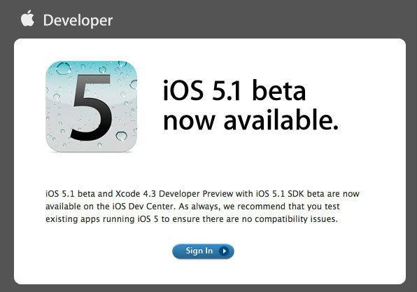 Apple ปล่อย iOS 5.1 beta ให้นักพัฒนาทดสอบแล้ว แต่เผลอหลุดรหัส iPad 2 โมเดลใหม่ติดมาด้วย!