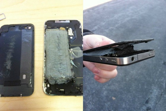 iPhone 4 ไฟติดเองอีกแล้วในขณะที่ทำการชาร์จ