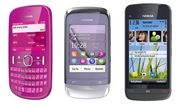 Nokia ลุยตลาดรับเทศกาลปีใหม่เปิดตัวโทรศัพท์มือถือ 3 รุ่น Asha 200,C2-06 และ C5-06 ในราคาสุดคุ้ม