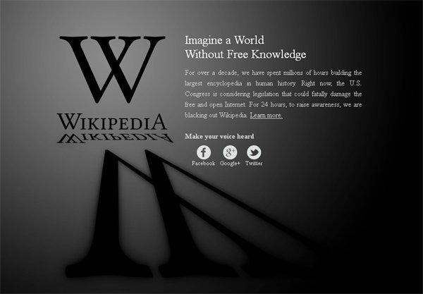 กระทบทั่วโลก Wikipedia  ถูกปิดชั่วคราวแล้ว