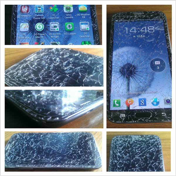 Samsung Galaxy Note2 จอแตกละเอียด (มีรูป)