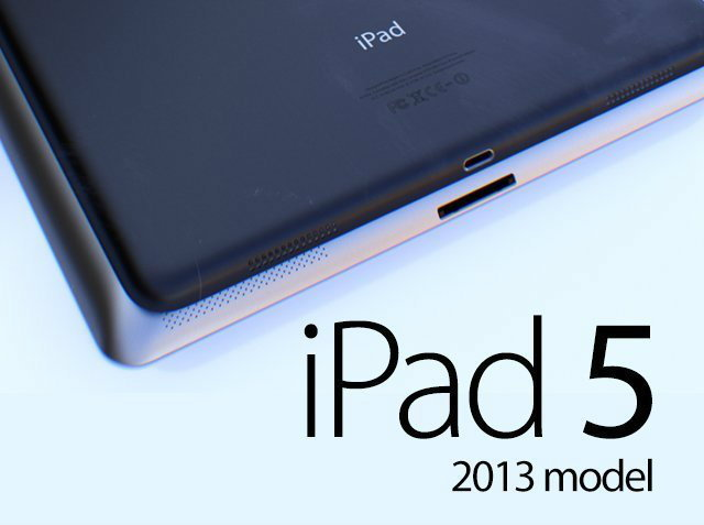 เผยแบบจำลอง iPad 5 ตามข่าวลือ