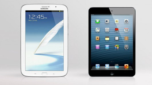 เทียบ Samsung Galaxy Note 8.0 vs. Apple iPad mini