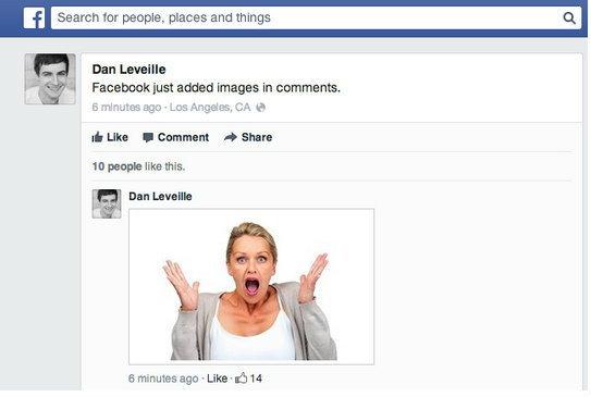 Facebook ให้ใส่รูปตรงๆ ในคอมเมนต์ได้แล้ว