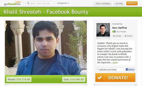 ชุมชนความปลอดภัยร่วมลงขัน ให้เงินรางวัลคนแฮ็กวอลล์ Zuckerberg