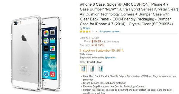 Spigen ทำภาพหลุด iPhone 6 แบบชัดๆ ไม่ต้องลุ้น!!