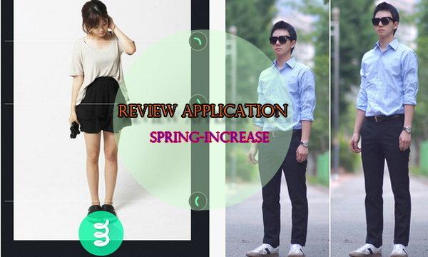 ลองหรือยัง? App Spring-Increase แต่งรูปเก๋ๆ ขายาวขึ้นในพริบตา