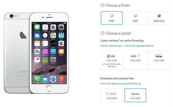 iPhone/6 Plus เครื่องเปล่าสหรัฐฯ ราคาเริ่มต้นที่ 21,500 บาท