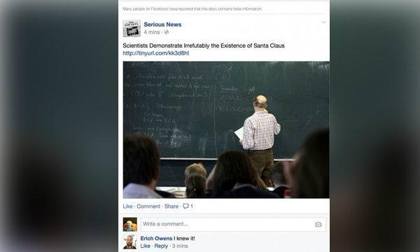 """""""เฟซบุ๊ก"""" เพิ่มฟังก์ชั่นใหม่ สกัดข่าวแหกตาบนนิวส์"""