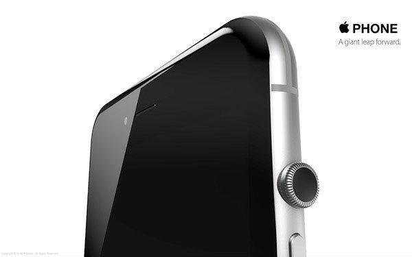 ชมภาพคอนเซปท์ iPhone 6S ล่าสุด ดีไซน์แปลกด้วยเม็ดมะยมแทนปุ่ม Home คล้ายบน Apple Watch