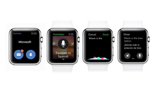 Microsoft ส่ง Bing Translator และ Outlook  ให้กับ Apple Watch และ Android Wear