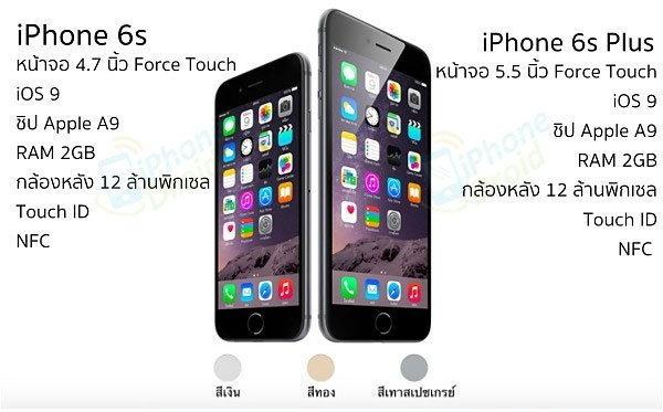 คาดการณ์ราคา iPhone 6s ในไทยเริ่มต้น 24,900 บาท