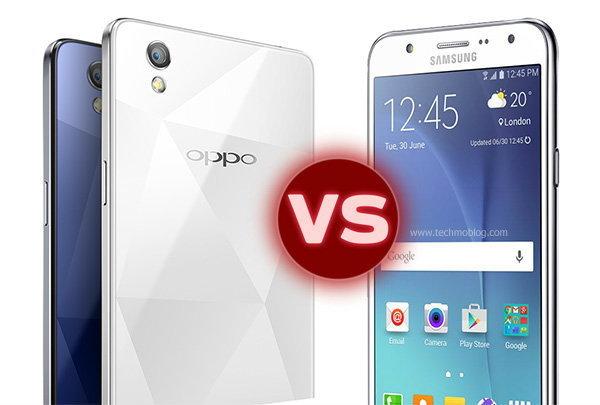 เปรียบเทียบสเปค Samsung Galaxy J7 vs OPPO Mirror 5 มือถือเซลฟี่ เลือกรุ่นไหนดี ?