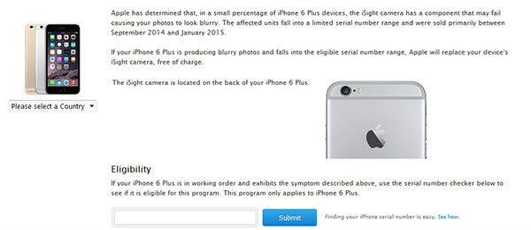Apple เรียก iPhone 6 Plus กับล็อต กันยายน 2014 ถึง มกราคม 2015 แก้ไขปัญหากล้อง iSight ไม่โฟกัส