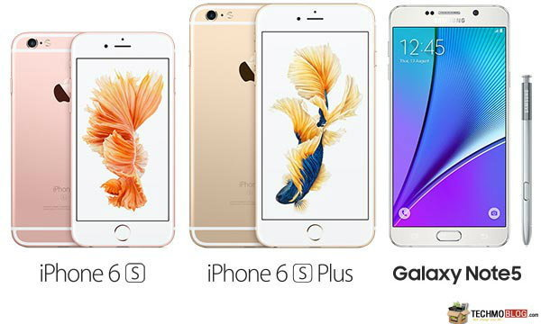 เปรียบเทียบสเปค Samsung Galaxy Note 5 vs iPhone 6S vs iPhone 6S Plus ซื้อรุ่นไหนดี ?
