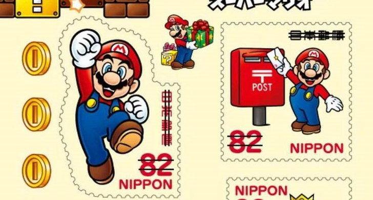 ปู่นินเปิดตัวแสตมป์ จากเกม Super Mario Bros.
