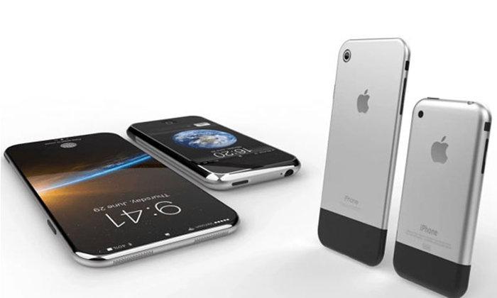 งามหยด!! คอนเซปท์ iPhone 8 รุ่นครบรอบ 10 ปี ด้วยแรงบันดาลใจด้านดีไซน์จาก iPhone รุ่นแรก