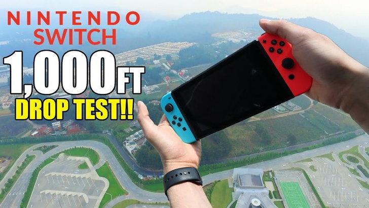 มาดูการทดสอบ Nintendo Switch แบบสุดโหดด้วยการโยนจากที่สูง 1,000 ฟุต
