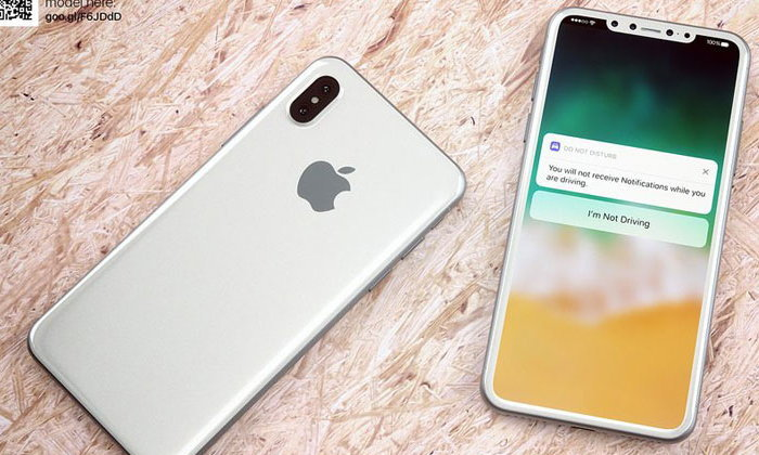 ภาพเรนเดอร์ iPhone 8 ตัวเครื่องสีขาว เผยดีไซน์บอดี้แบบกระจก หน้าจอชิดขอบ และกล้องคู่แนวตั้ง