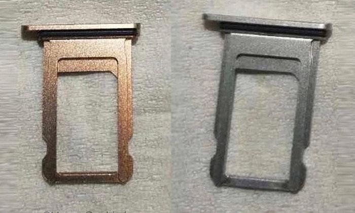 หลุดภาพที่เชื่อว่าอาจเป็นถาดซิมของ iPhone 8 มาพร้อมสีใหม่