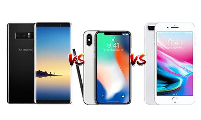 เทียบ iPhone 8 Plus, iPhone X และ Samsung Galaxy Note 8 ศึกเรือธงคู่แข่งตลอดกาล
