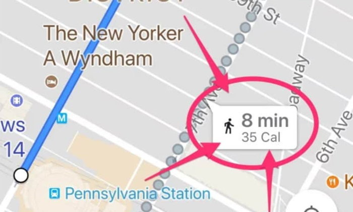 Google Maps เพิ่มฟีเจอร์บอกจำนวนแคลอรี่ ที่เผาผลาญได้จากการเดิน