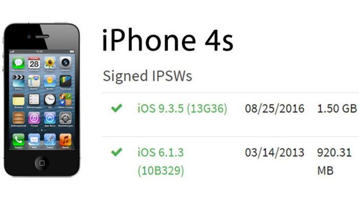 ผู้ใช้ iPhone 4s ยังสามารถดาวน์เกรดกลับไป iOS 6.1.3 ได้อยู่