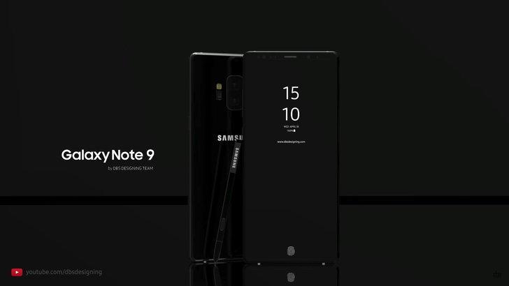 ชมภาพคอนเซ็ปต์ Samsung Galaxy Note 9 ที่ iPhone X ยังต้องอาย