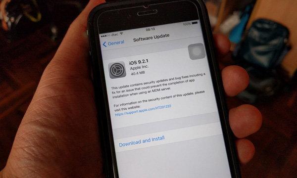 Apple ส่ง iOS 9.2.1 เวอร์ชั่นใหม่แก้ไขเล็กน้อยก่อนปรับใหญ่ใน iOS 9.3