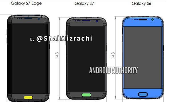 เผยภาพมิติตัวเครื่องของ Samsung Galaxy S7 มีการเปลี่ยนแปลงชัด ๆ