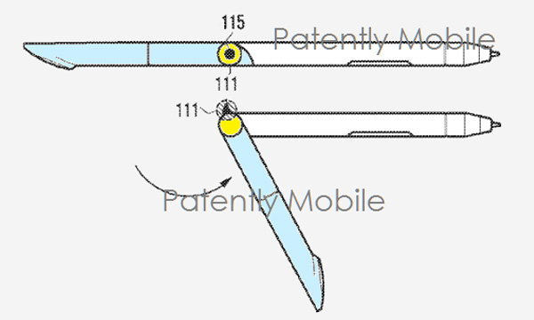 Samsung จดสิทธิบัตร Spen แบบพับได้ คาดว่าน่าจะใช้ใน Galaxy Note รุ่นต่อไป