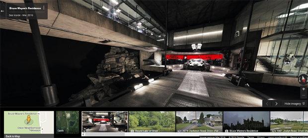 ตามรอย Batman V Superman ! พาชมบ้าน Batman ด้วย Google Street View