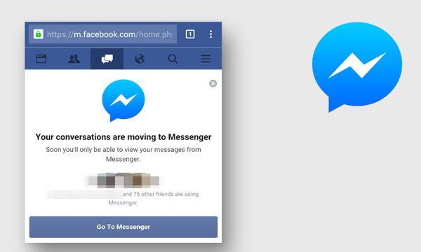 Facebook กลับมาบังคับให้โหลดแอปส์ Messenger เมื่อสนทนาผ่านเว็บบนมือถือ