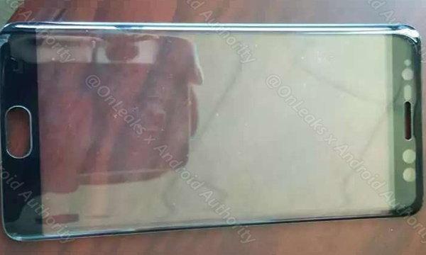 เผยภาพหน้าจอด้านหน้าของ Samsung Galaxy Note 7 จะมีรองรับระบบสแกนใบหน้าสุดล้ำ
