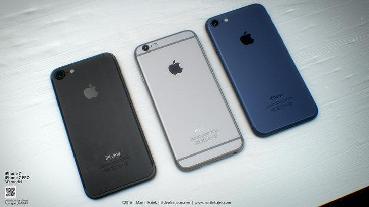 เผยภาพเรนเดอร์ของ iPhone 7 สีดำเข้ม พร้อม Lightning Earpods แบบใหม่