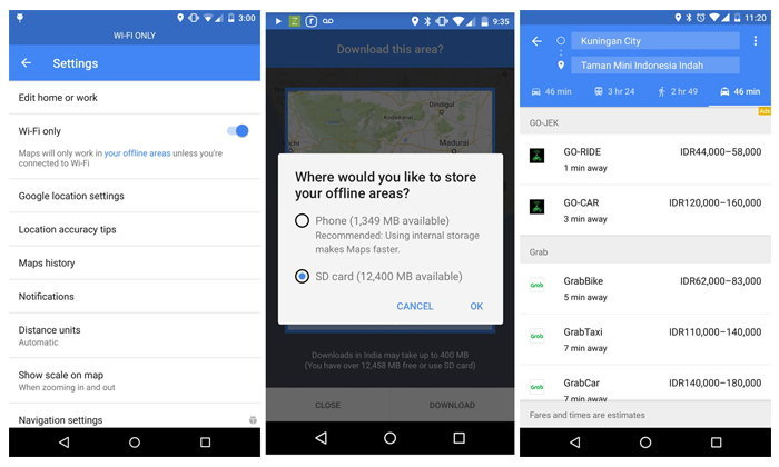 Google Maps เพิ่มฟีเจอร์เชื่อมต่อ WiFi และ บันทึกแผนที่ลง Micro SD ให้กับ Android