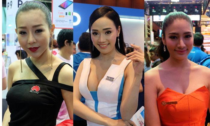 รวมภาพพริตตี้แจ๋ม ๆ ในงาน Thailand Mobile Expo 2016 ปลายปี