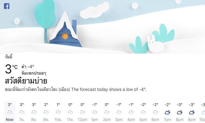 Facebook เพิ่มแถบรายงานสภาพอากาศ เปิดเช็กได้ในแอพเดียว
