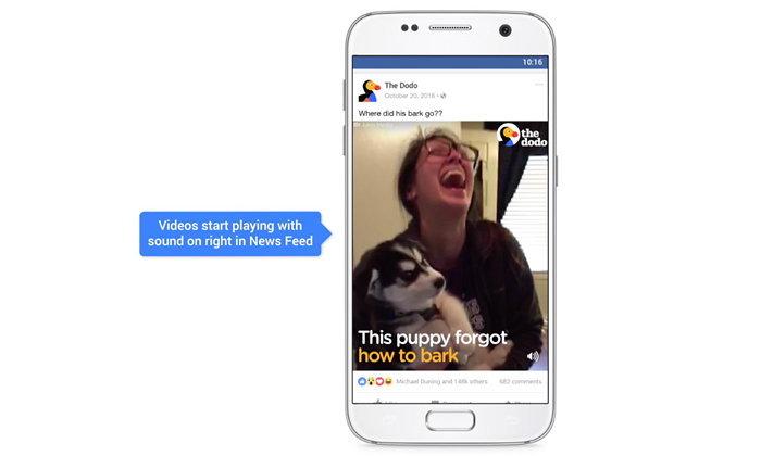 ก้าวสำคัญของมนุษยชาติ Facebook เริ่มเปิดเสียงวิดีโอเป็นค่าดีฟอลต์