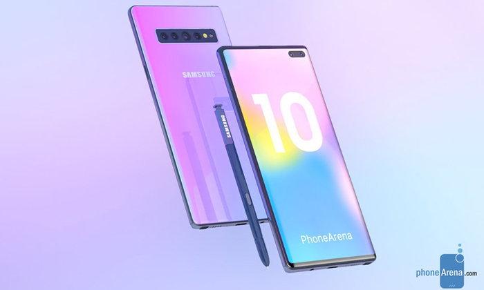 """ชมภาพเรนเดอร์ของ """"Samsung Galaxy Note 10"""" ยิ่งทำยิ่งสวย"""