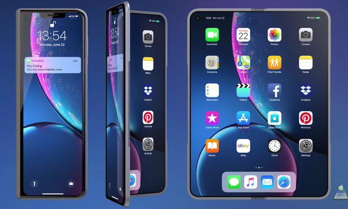 """ชมภาพคอนเซ็ป """"iPhone X Fold"""" สวยไม่แพ้ค่ายไหน?"""